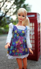 Platinum Stacey with Bratz British telephone booth (tamsykens1) Tags: family friends red me fashion vintage booth mod doll pretty phone stacey box telephone picture barbie era british talking platinum phonebox bratz