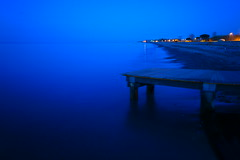 Blue (Lucio Busa) Tags: longexposure blue sea beach bulb night landscape landscapes waves hour a77 sonyalpha