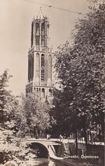 Ansichtkaart Utrecht Domtoren 1941_0001 (dickjan thuis) Tags: utrecht domtoren postcard 1941 ansichtkaart prentbriefkaart
