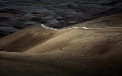 Fields of Grains (Brian Truono Photography) Tags: morning travel autumn nature sunrise landscape dawn nationalpark sand colorado frost natural nps dunes dune frosty explore sanluisvalley grains geology nationalparkservice winds range preserve greatsanddunes windblown sangredecristo highdune