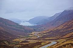 Approaching Loch Maree. (artanglerPD) Tags: road trees heather loch distance maree