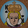 Round Playing Card King of Spades (Leo Reynolds) Tags: xleol30x squaredcircle playing card playingcard deck carddeck sqset126 canon eos 40d xx2016xx