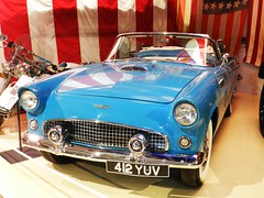 Ford Thunderbird, Grampian Transport Museum, Alford, Aberdeenshire, April 2016 (allanmaciver) Tags: blue ford drive aberdeenshire display quality flag transport style class american shade vehicle thunderbird grampian allanmaciver