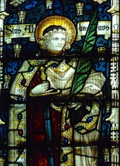 Retford - St Swithun's - Kempe Glass (Glass Angel) Tags: tower stainedglass nottinghamshire retford stalban kempe stswithun
