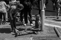 the feels.. (GogyJen.L) Tags: world street bw sun photography israel telaviv nice sad tel aviv homeless streetphotography pepole