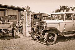 (#93) Vintage Ride (xTexAnne) Tags: arizona bw sepia truck vintage blackwhite tucson antique gaspump pimacountyfair nikond7100 diannewhite 116picturesin2016