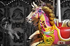 Carrusel. (Photoroca) Tags: children caballo play young feria nios colores infancia nio carrousel carrusel atraccion girar