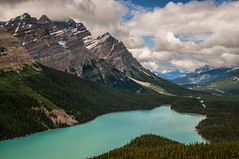Peyto Lake, Alberta (angie_1964) Tags: trees sky lake canada mountains nature water clouds landscape rockies explore alberta banff peytolake tamron1750mmf28 nikond300