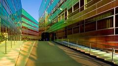 _DSC2222 (durr-architect) Tags: light sun colour reflection netherlands glass architecture modern facade offices almere dfense berkel unstudio