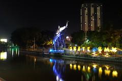 This is Surabaya (AdityaNanda) Tags: city longexposure nightphotography monument night river fujifilm surabaya citylight nigtshot surabayatourism exploresurabaya