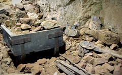 Abandoned Lode (Cornish Cactus) Tags: old abandoned rock stone underground bucket shoes iron mine display abandon monmouth cave subterranean load trolly cavern ore hopper miner rubble attraction forestofdean wyevalley clearwell lode