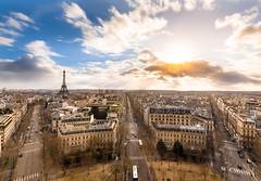 Paris (Matthieu Plante) Tags: blue sunset sky sun paris france tower clouds canon europe tour cloudy eiffel sight nuages 6d nuageux
