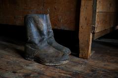 Old fisherman's boots, Iceland (Yann OG) Tags: texture boot iceland fishing fisherman parquet pcheur sland botte cabane islande icelandic pche sigma30mm islandais