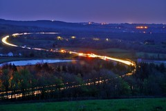 West Bound (howell.davies) Tags: uk light wales night landscape movement nikon stream darkness motorway transport nighttime m4 hendy d3200 55200vr