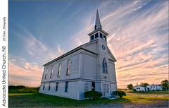 Advocate United Church, NS (jwvraets) Tags: church nikon novascotia gimp bayoffundy opensource hdr highdynamicrange advocate luminance unitedchurchofcanada nikkor1224mm advocateharbour d7100 rawtherapee advocateunitedchurch