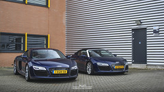 Coup and Spyder (MvdD Automotive Photography) Tags: blue thenetherlands spyder audi supercar sportscar combo r8 carphotography exoticcar carspotting automotivephotography exclusivecar mvdd