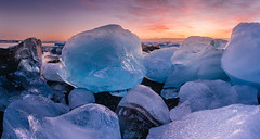Jkulsrln beach ice boulders. (tbrittaine) Tags: ice iceland nationalpark europe glacier iceberg vsco jkulsrln