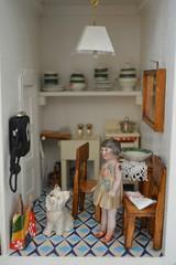 Kitchen of Manon House (shero6820) Tags: old kitchen vintage toys dolls antique dollhouse dollshouse