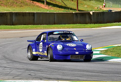 Porsche 911 oversteer (Thumpr455) Tags: auto blue car racetrack speed georgia nikon automobile action historic april races hsr sportscar aircooled mitty flatsix roadatlanta 2016 braselton group5 d5500 worldcars afnikkor70200mmf28vrii