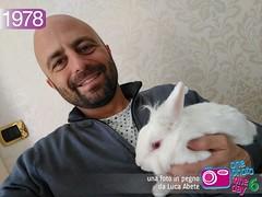 Foto in Pegno n 1978 (Luca Abete ONEphotoONEday) Tags: white bunny me 30 1978 aprile coniglio selfie 2016