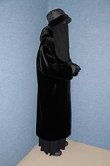 Slave girl in warm coat (Buses,Trains and Fetish) Tags: hot girl warm coat hijab sweat niqab slave burka chador