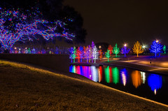 Vitruvian Lights (brian.a.eaton) Tags: trees outdoors lights dallas pond nikon december texas christmaslights addison d7000 vitruvianpark vitruvianlights