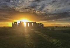 Ancient sunset (explored) (Nige H (Thanks for 25m views)) Tags: england history monument clouds ancient sundown historic stonehenge wiltshire ancientmonument