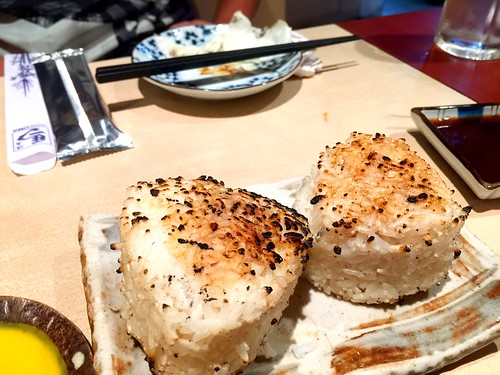 Grilled onigiri from Yakitori Uma in Orchard Plaza