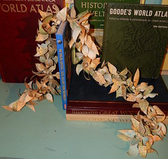 Map Leaves Garland (Morganthorn) Tags: leaves paper map garland atlas crafted