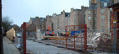 Extinct beetles (beqi) Tags: panorama brick history edinburgh meadows demolition photoshoppery 2016 meadowlane
