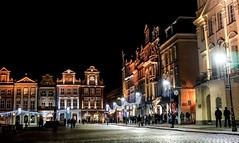 Old Town Square, Pozna (Ula P) Tags: christmas nightshot sony pozna oldsquare