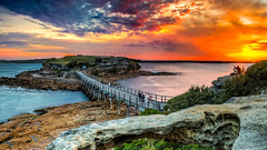 Bare Island sunset (SydneyLens) Tags: ocean sunset colors island rocks colours sydney australia hdr laperouse bareisland hdrphotography