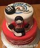 Hockey & Beer Birthday Cake