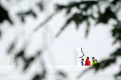 Visiting with snowmen 1 (rachel.roze) Tags: snow snowmen hanover january2016
