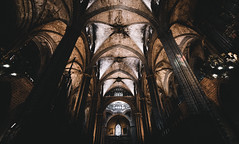 Arches (kendall.plant) Tags: barcelona travel church architecture dark spain moody sony wide arches explore fade a7