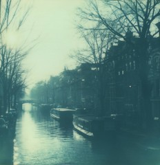 (DevonCaulfield) Tags: film netherlands amsterdam analog project polaroid sx70 canal nederland impossible bloemgracht filmisnotdead