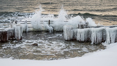 Forces of nature (Infomastern) Tags: winter sea snow cold ice water is vinter sn vatten hav stersjn smygehuk kallt