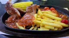 Chicken Chop & Chips (Dex) Tags: food chicken restaurant yummy corn meat malaysia chip penang kimgary chickenchop sunwaycarnivalmall