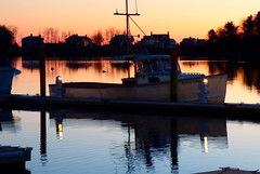 Ice Free  02.02.16 (rowland-w) Tags: ocean sunset reflection water evening harbor boat twilight dock glow maine calm shore kennebunkport serene tranquil smrgsbord