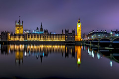 Political reflections :-) (angelinacolins) Tags: travel bridge holiday reflection london tower water westminster night image bigben documentation westminsterbridge londonnight housesofparlament