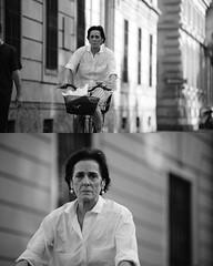 [La Mia Citt][Pedala] (Urca) Tags: portrait blackandwhite bw bike bicycle italia milano bn ciclista biancoenero mir bicicletta 2015 pedalare dittico 79573 nikondigitale ritrattostradale