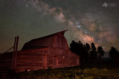 2 Percent Milk At The Moulton Barn (Mike Berenson - Colorado Captures) Tags: nature barn stars landscape grandtetons tetons allrightsreserved milkyway grandtetonnationalpark mormonrow milkywaystars johnmoultonbarn nightphotographyworkshop johnmoulton coloradocaptures mikeberenson copyright2015bymikeberenson