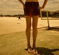 trapiche de mel (Leticia Manosso) Tags: summer beach girl female do legs mel ilha trapiche nud