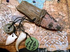 DSCN2589 (LynzCraftz) Tags: art necklace handmade spirit oneofakind goddess polymerclay resin arrowhead pendant amulet renaissancefair swellegant