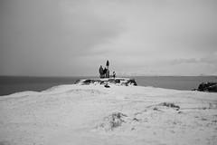 Outlook (maekke) Tags: street family sea bw snow clouds iceland noiretblanc cloudy streetphotography reykjavik fujifilm 2015 x100t