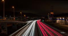 Autobahn CK Graffiti :) (-c2k-) Tags: street panorama 35mm schweiz switzerland nikon wideangle autobahn lighttrails nikkor aargau afs weitwinkel ptgui spreitenbach lightroom4