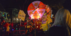 Spin the Bottle (BKHagar *Kim*) Tags: street carnival people night colorful neworleans parade celebration napoleon nola mardigras float riders krewedetat spinthebottle prytania detat bkhagar