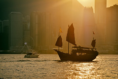 Time Traveler 2 (Yohsuke_NIKON_Japan) Tags: voyage china city sunset urban orange hongkong harbor asia ship   sunsetlight ifc victoriaharbor orangecity internationalfinancecentre  d7100 analogefex
