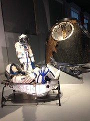 Soyuz & space suits (Inkysloth) Tags: london industry museum technology space astronaut science cosmos sciencemuseum cosmonaut spacescience