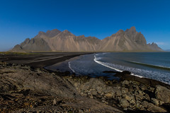 Vestra horn (icecold46) Tags: sea mountain rock iceland sand shore vestrahorn